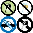 No Drinking Sign - Stock Vector
