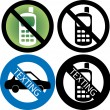 No Cell Phone Sign — Stock Vector