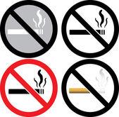 Geen teken van roken — Stockvector