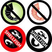 No hay señales de mariscos — Vector de stock