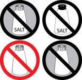 No Salt Sign — Stock Vector