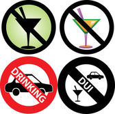 No Drinking Sign 2 — Stock Vector