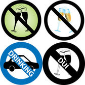 No Drinking Sign — Stock Vector