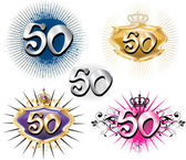 50th Birthday or Anniversary — Stock Vector