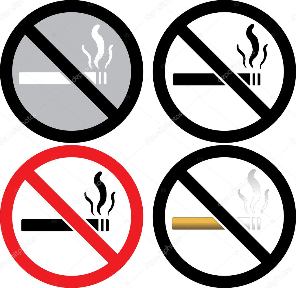 No Smoking Sign — Stock Vector © BasheeraDesigns #3718515