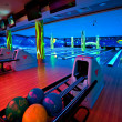 Interior bowling alley - Stock Photo