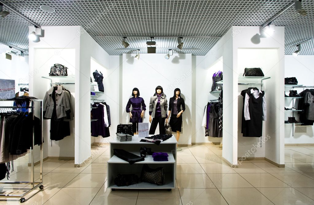Interior of shop of clothes — Stock Photo #2759337