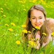 Stock Photo: Young Womin Grass