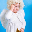 Angel with star — Stock Photo