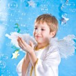 Stock Photo: Child in fairy costume with angel wing