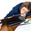Business woman sleeping — Foto de Stock