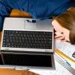 Business woman sleeping on the laptop — Stock Photo #2832747