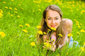 Young Woman in Grass — Foto Stock