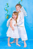 Smiling children angel — Stock Photo