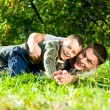 Smiling father and son — Stock Photo #3496510