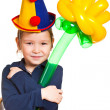 Stock Photo: Girl as clown