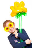 Funny child as a clown — Stock Photo