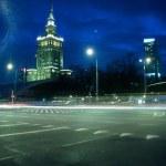 Warsaw city night — Stock Photo