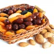 Almond and dry fruits — Stock fotografie