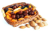 Almond and dry fruits — Stock Photo