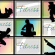 Fitness background - Stock Vector