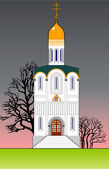 Orthodoxe tempel. — Stockvector