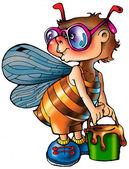 Bee. — Stockfoto