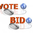 Vote and bid — Stock Photo