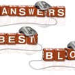 Best blog answers — Stock Photo