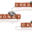 Credit cash money — Stock Photo