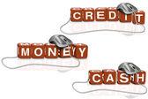 Credit cash money — Stock Photo