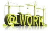 På jobbet stör inte gör jobbet — Stockfoto
