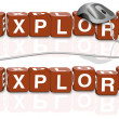 Explore exploration discover adventure explorer — Stockfoto