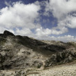 Andes landscape mountain and blue sky white clou — Stock Photo #3140577