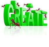 Create realize innovate — Stock Photo
