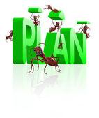 Realizing executing plan — Stock Photo