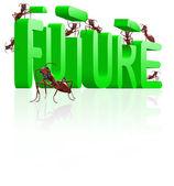 Bouwen aan de toekomst innoveren en vooruitgang maken — Stockfoto