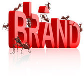 Brand development branding label trademark — Stock Photo