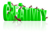 Creativity create innovation and idea — Stock Photo