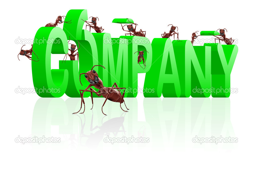 Ants building company  brand com — Stock Photo #3794605