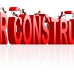 em construção, construção de página de internet do site — Foto Stock