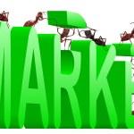 Market building marketing green economy — Stock Photo #3801960