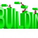 edificio in costruzione creando — Foto Stock #3802223