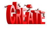 Create realize innovate idea — Stock Photo