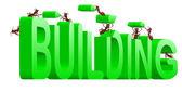 ビル建設の作成中 — ストック写真