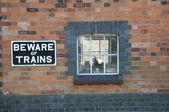Beware of trains — Stock Photo