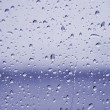 Blue rain drops - Stock Photo