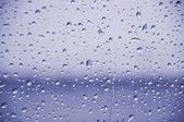 Blue rain drops — Stock Photo