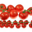 Tomatoes on white. — Stock Photo