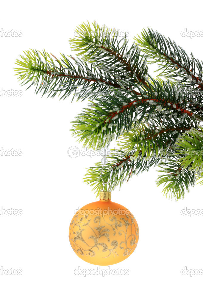 Christmas decoration on a white background. — Stock Photo #3046412